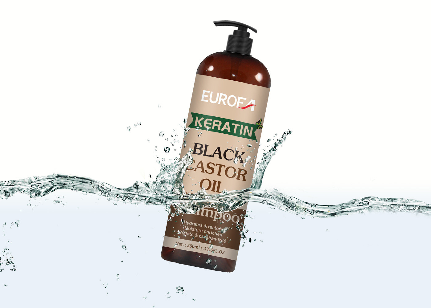 Black Castor Oil Shampoo For Fine And Dry Hair Natural Fragrance Shampoo